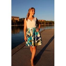 Adèle | Robe courte à plis...