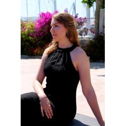 Lisa   Vestido largo negro...