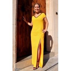 Julie   Yellow split front...