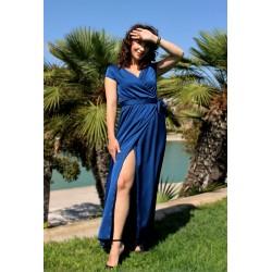 Elise   Wrap satin dress