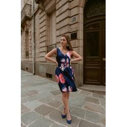 Anna   Floral satin dress