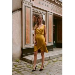 Carmen | Wrap satin dress
