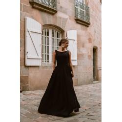 Marlène   Long ruched dress...
