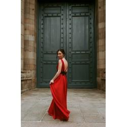Eva   Long backless dress...