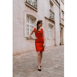 Ruby   Short suede red dress