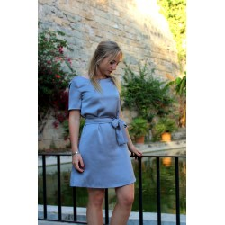 Silver   Short satin dress...